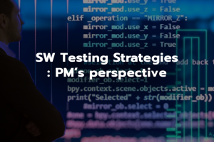 SW Testing Strategies : PM's perspective